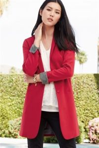 Next Red Longline Coat