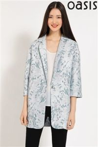 Oasis Marble Jacquared Coat