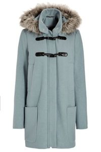 Duffle Coat with Faux Fur trim