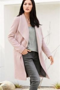 Next Pink Waterfall Coat
