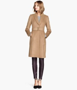 H&M Coat in a wool bend