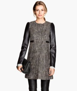 H&M Coat in a Textured Weave