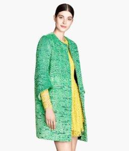 H&M Jacquared Weave Coat