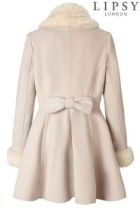 Lipsy Faux Fur Trim Princess Coat