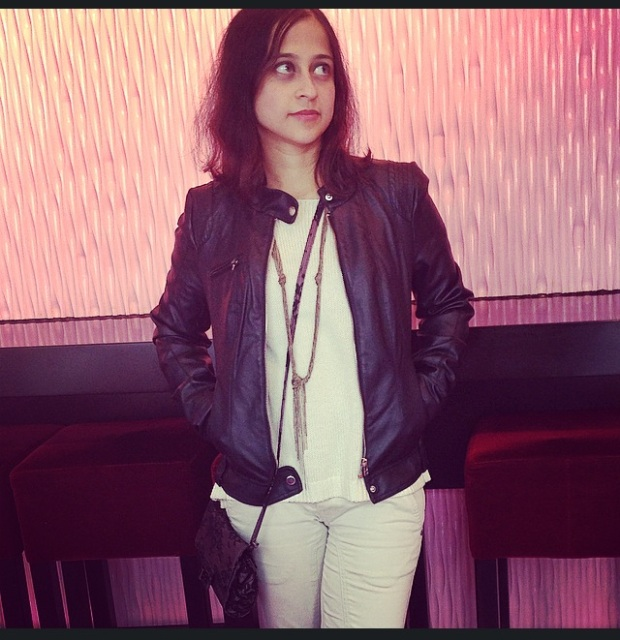 Faux leather jacket from H&M.