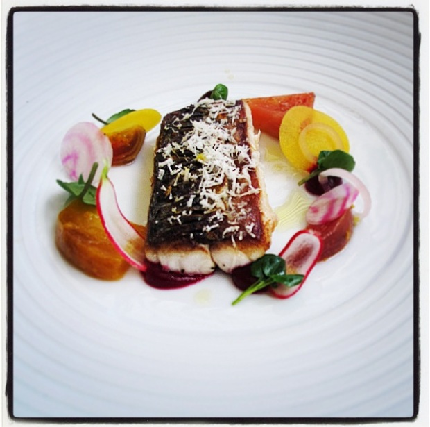 Mackerel - beetroot, horseradish and citrus