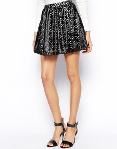 Club L Laser Cut Skater Skirt