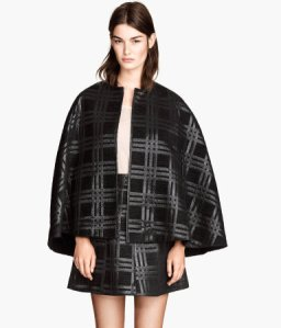 H&M Textured Cape and Skirt