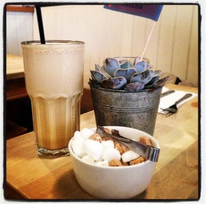 Coold coffee shake at Joe's Kitchen