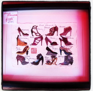 Loved this framed illustrations of shoes - from Primark to Lanvin