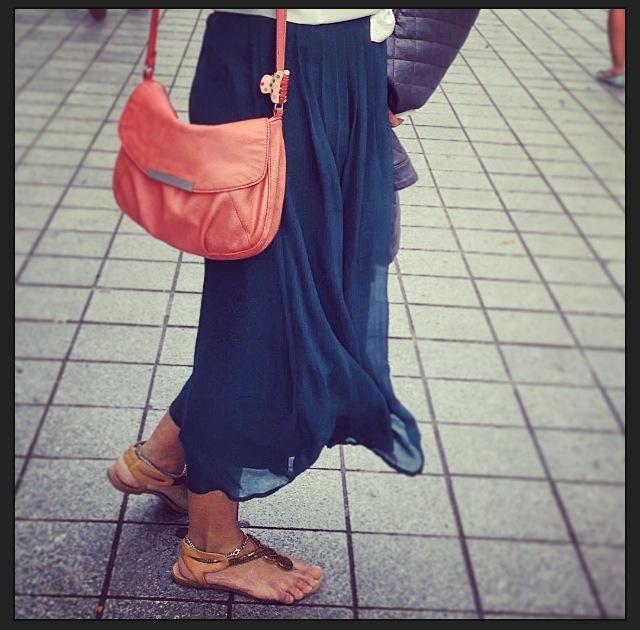 Forever 21 skirt and slippers.