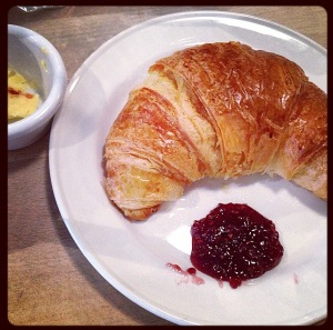 Joe's Kitchen Warm croissant
