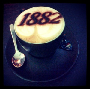 Cappuccino at Cafe Vergnano 1882