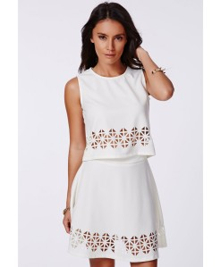 Missguided Laser Cut Top and Skirt