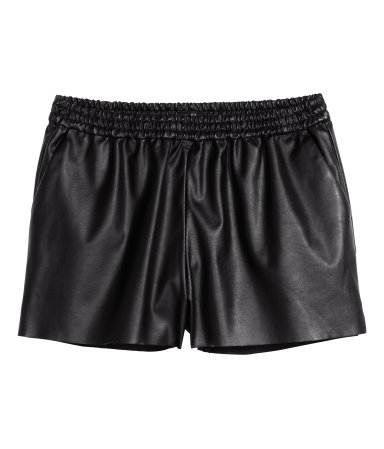 H&M Imitation Leather Shorts