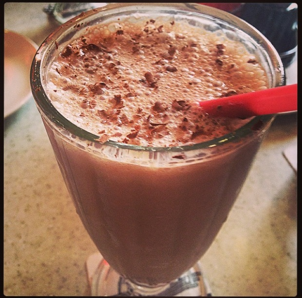 All the above pictures are of the Banana Nutella Coffee Shake in American Diner, Delhi .