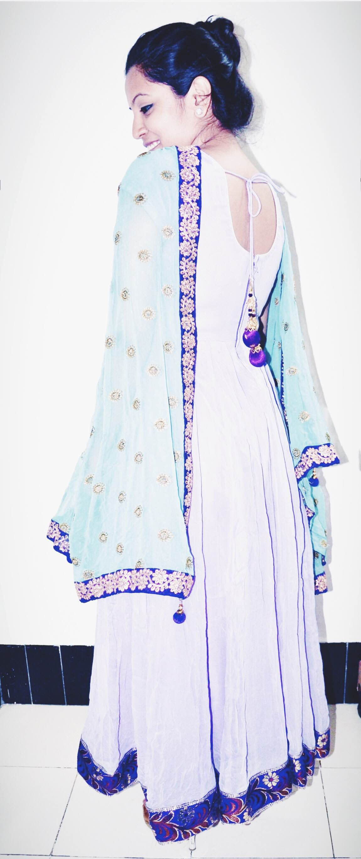 Tailored anarkali