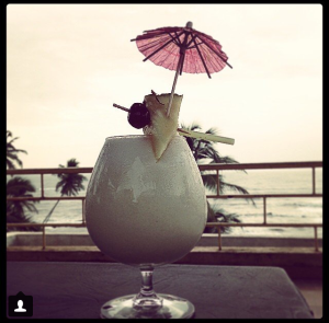 Goa sunset and a Pinacolada.