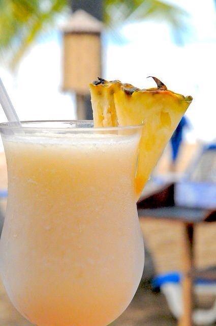 Pineapple for garnish.