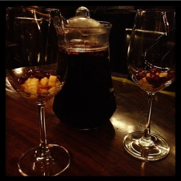 Red wine sangria at Zara Tapas Bar, Kolkata.