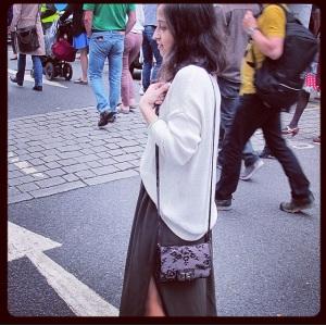 Zara lace cross-body bag
