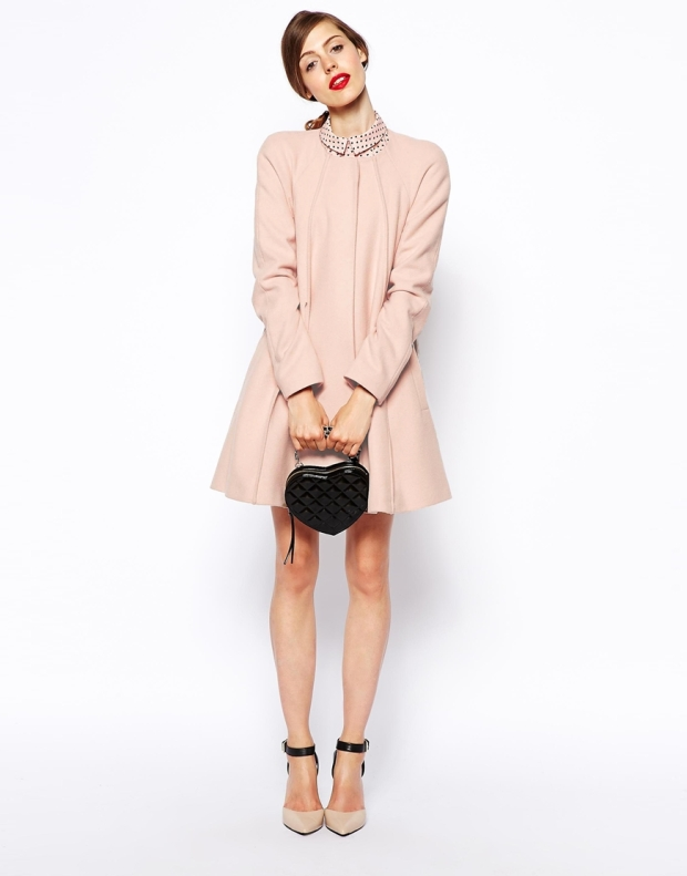 ASOS Coat In Trapeze With Seam Detail