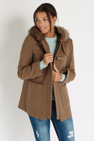 Oasis Natural Rosie Duffel Coat