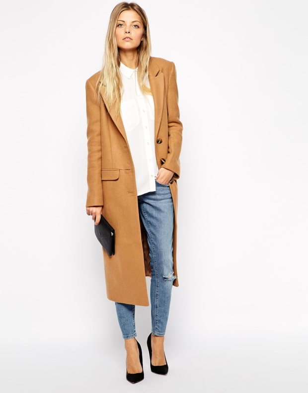 ASOS Midi Coat in Wool