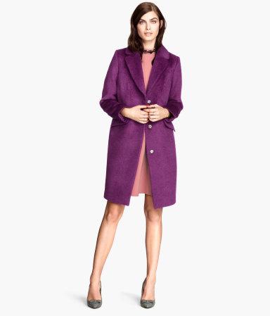 H&M Wool Coat - 85% wool + 15% alpaca
