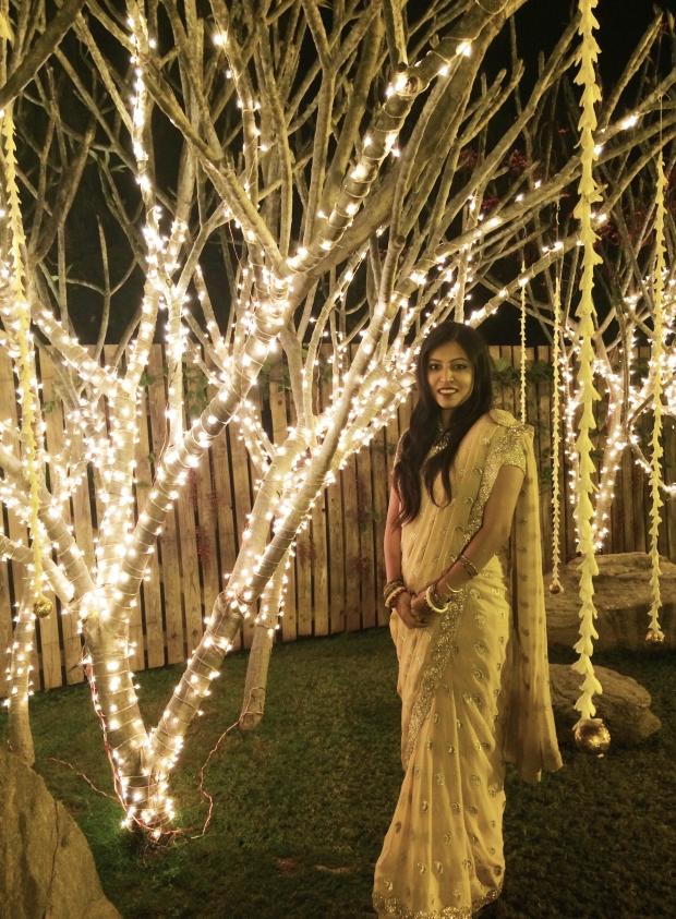 gold sari