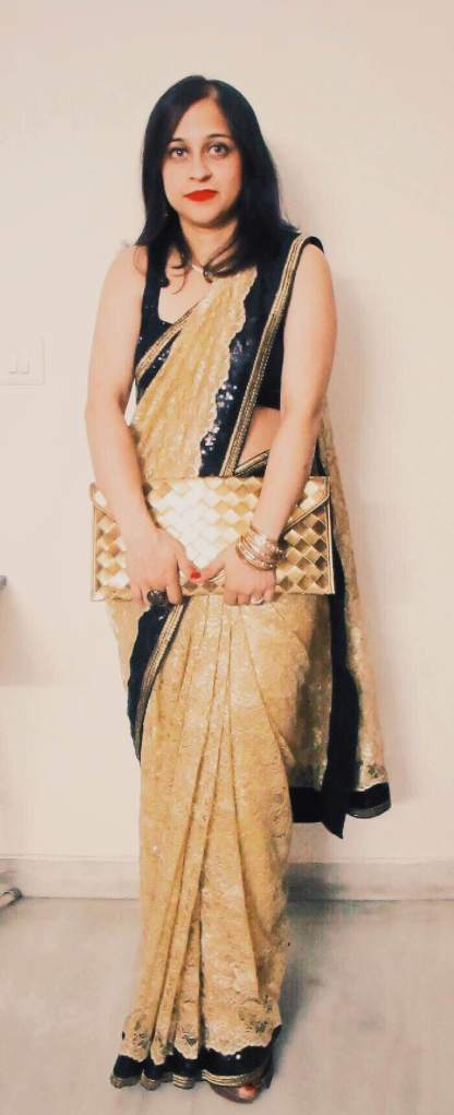 Sari designed by Anisha
