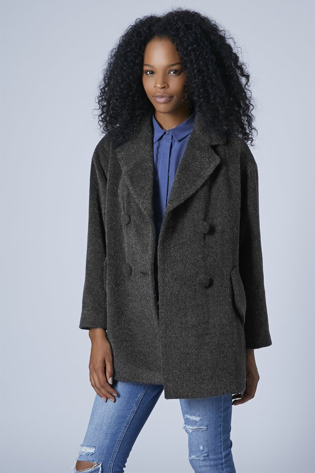 Topshop Double Breasted Pea Coat