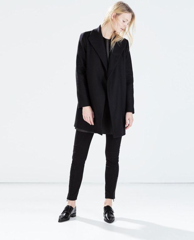 Zara Coat with Wraparound Collar