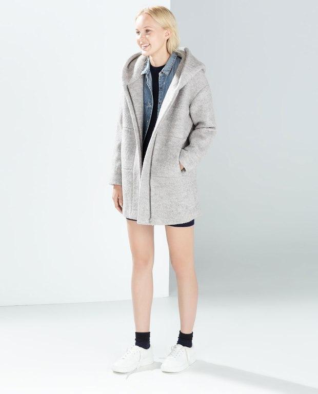 Zara Hooded Wool Coat
