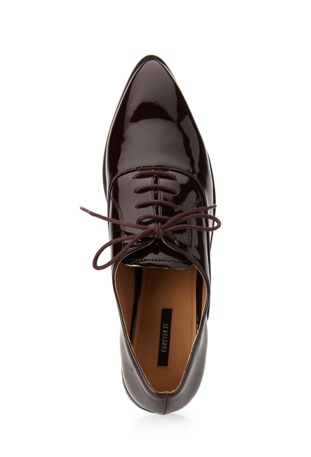 Forever 21 Faux Patent Oxfords