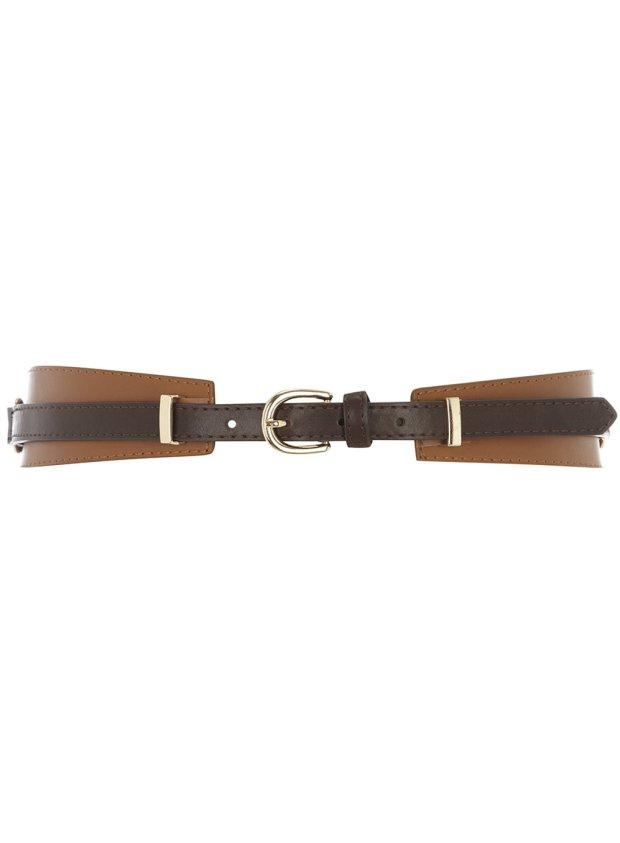 Dorothy Perkins Tan Overlay Waist Belt