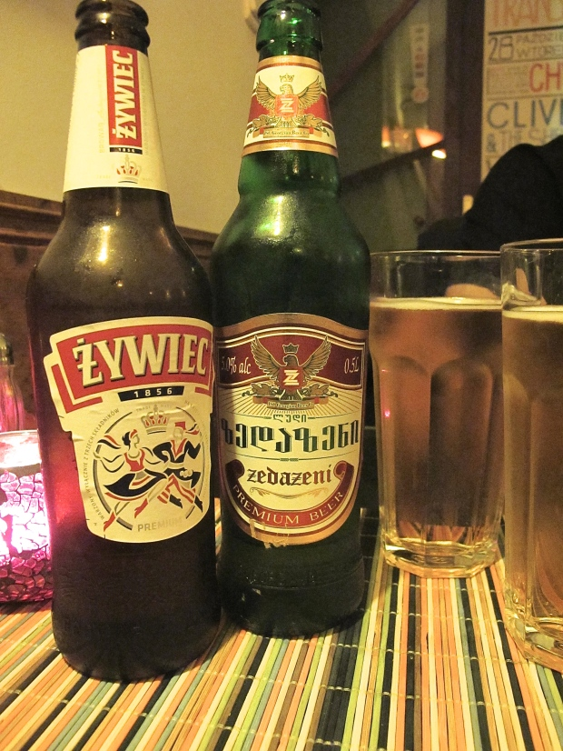 Romanian and Georgian beer