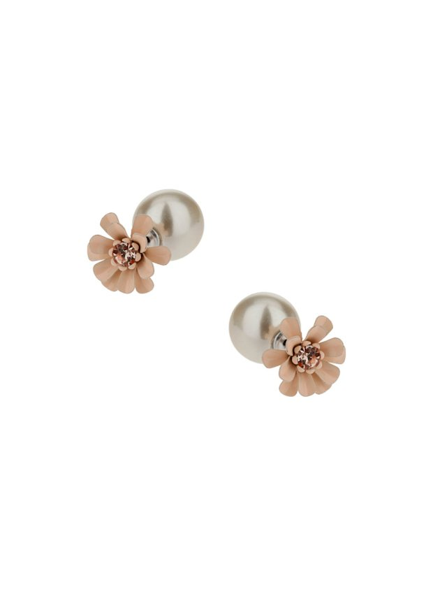 Dorothy Perkins Pink and Pearl Front Earrings