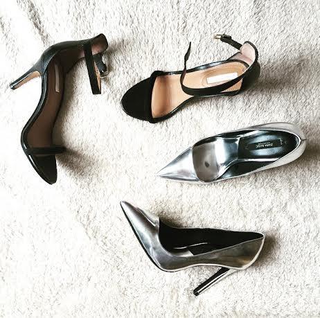 Stilettos heels Silver Pumps Nude heels Shoes sexy