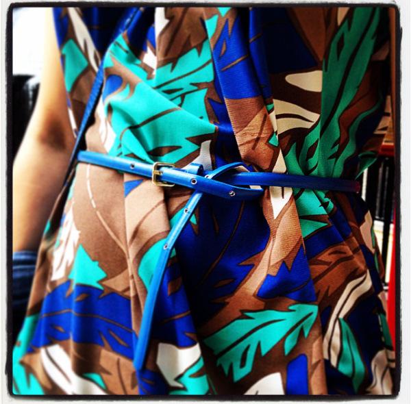 Blue Skinny Belt