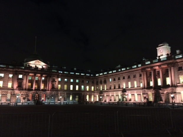 Somerset House London night light