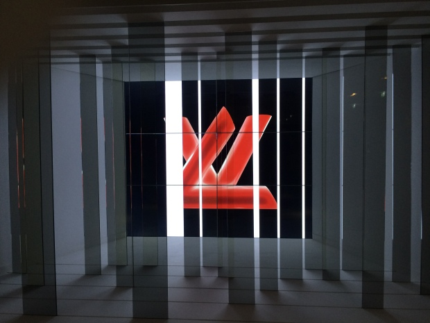 Louis Vuitton Series 3 Fashion exhibition Strand London logo monogram