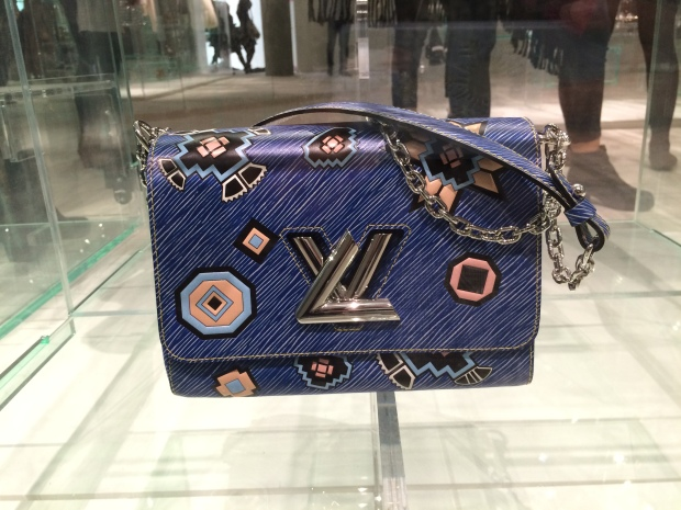 Blue Louis Vuitton cross body bag