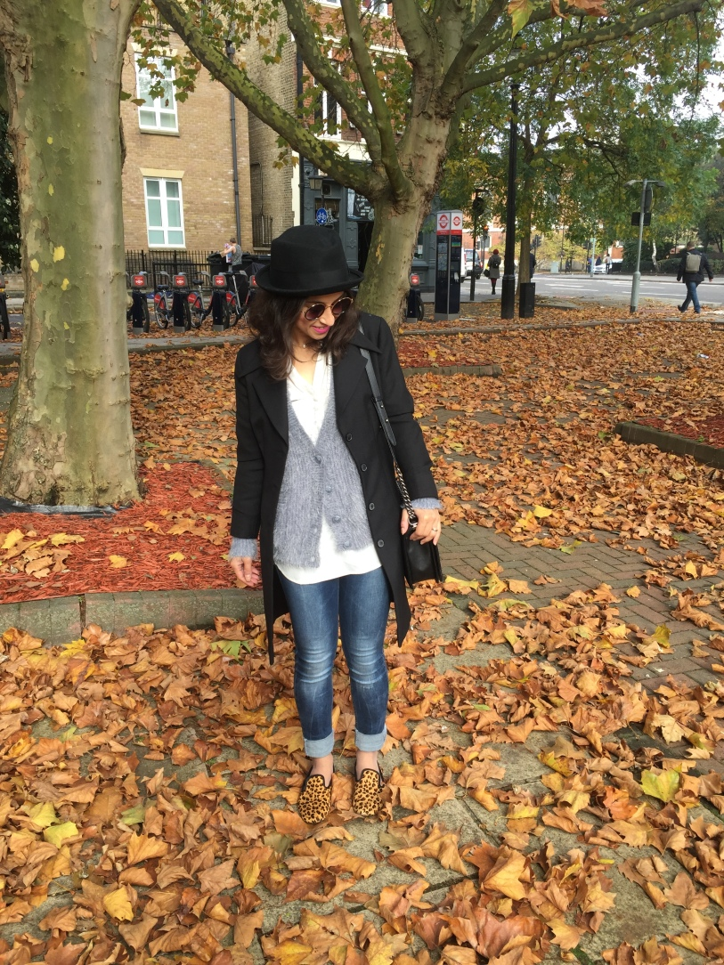 Autumn leaves Androgyny hat